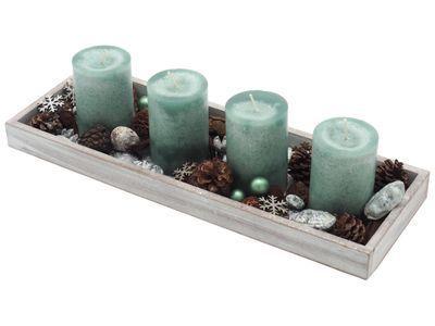 Adventsgesteck Weihnachten Weihnachtsdeko Tablett Mint Grün Silber Weihnachten Adventskränze …