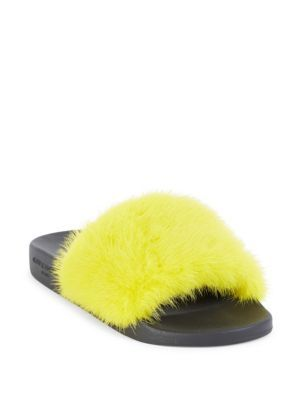 fdfe6af71 GIVENCHY Mink Fur & Rubber Slides. #givenchy #shoes #slides | Fur ...