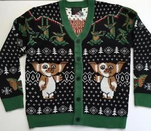 Christmas Cardigan Holiday Gremlins Sweater Ugly Mondo Official Knit