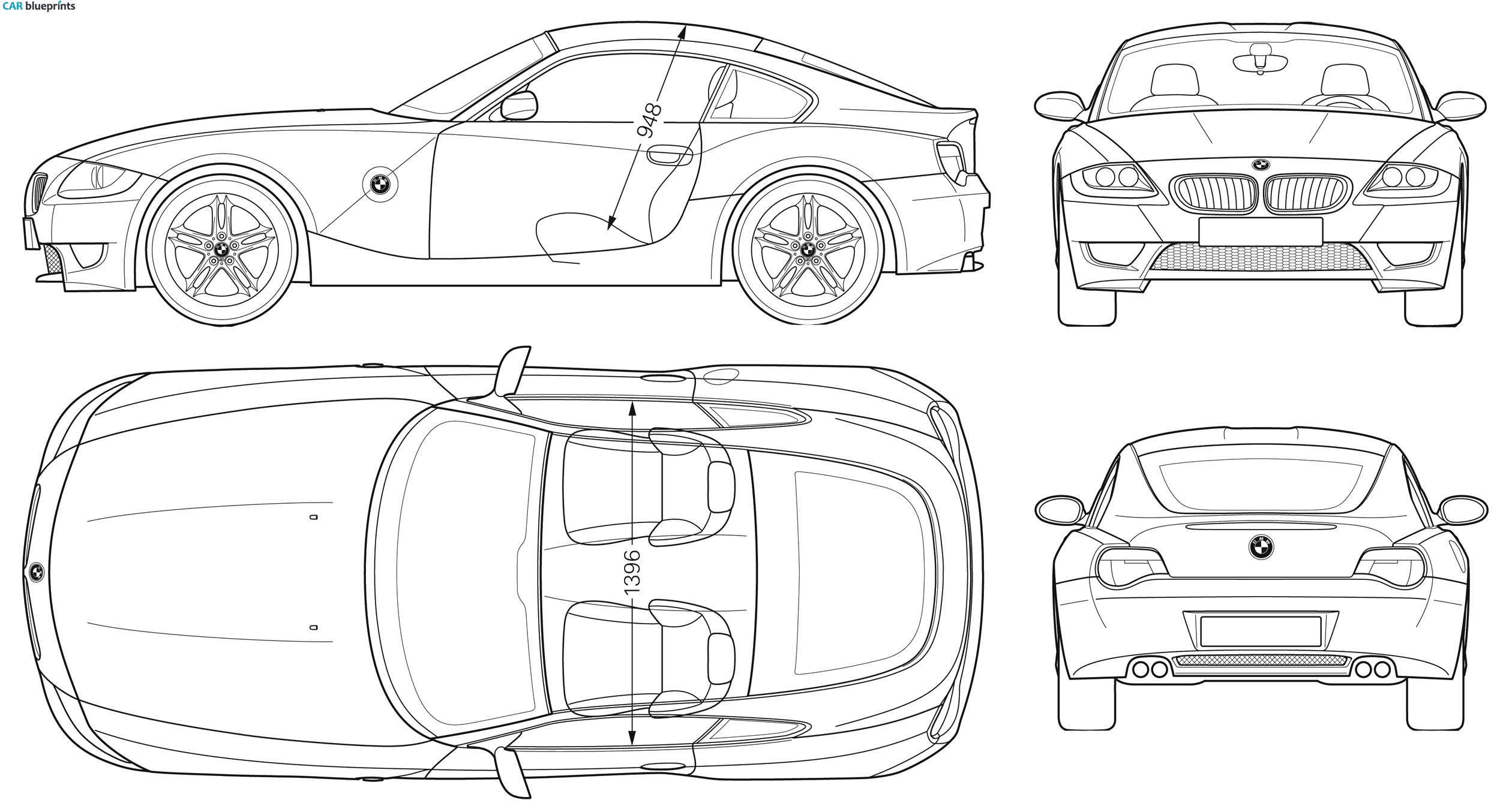 blueprint car - Google 검색 | blueprint | Pinterest | Bmw z4, Car ...