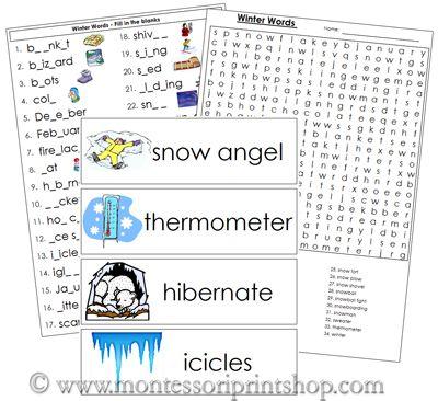 winter word list