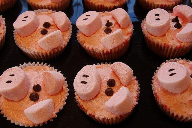 Schweinchen aus Marshmallows