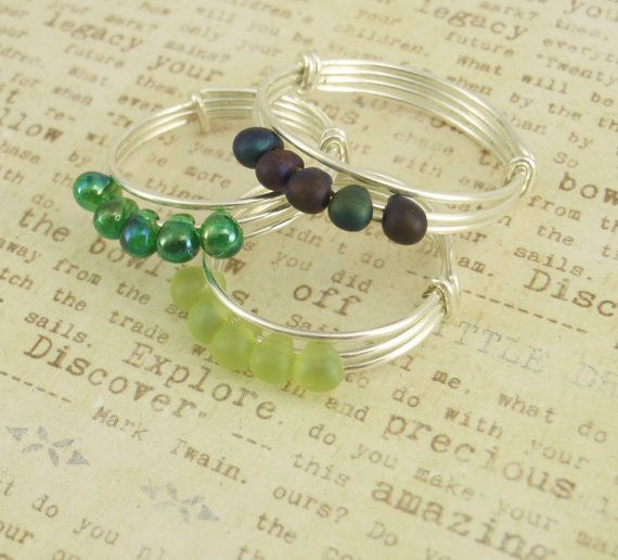 This Fifty Easy Rings Kit contains enough wire and beads to make Fifty Silver Beaded Rings! This project is perfect for a beginner in bead wrapping. The results