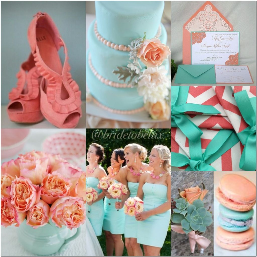 Mint and coral wedding ideas | Wedding inspirations by ...