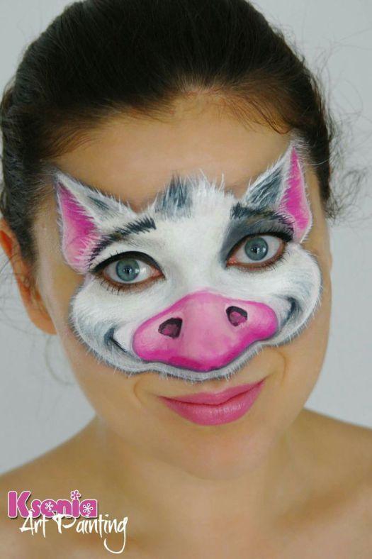Image Result For Pig Face Paint | Face Paint Ideas | Pinterest |  Kinderschminken Und Kostüm