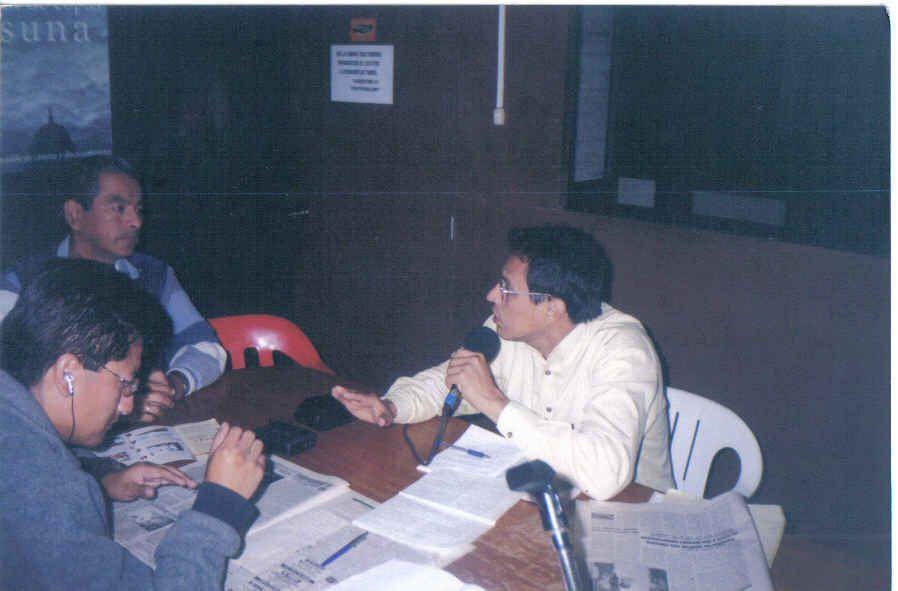 Conversando con Jaime Pacheco y Tito.