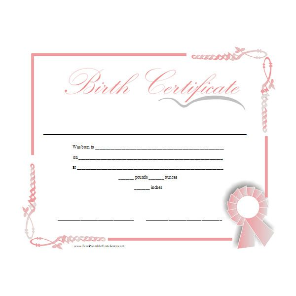 Birth Certificate Printable Certificate  Liked On Polyvore