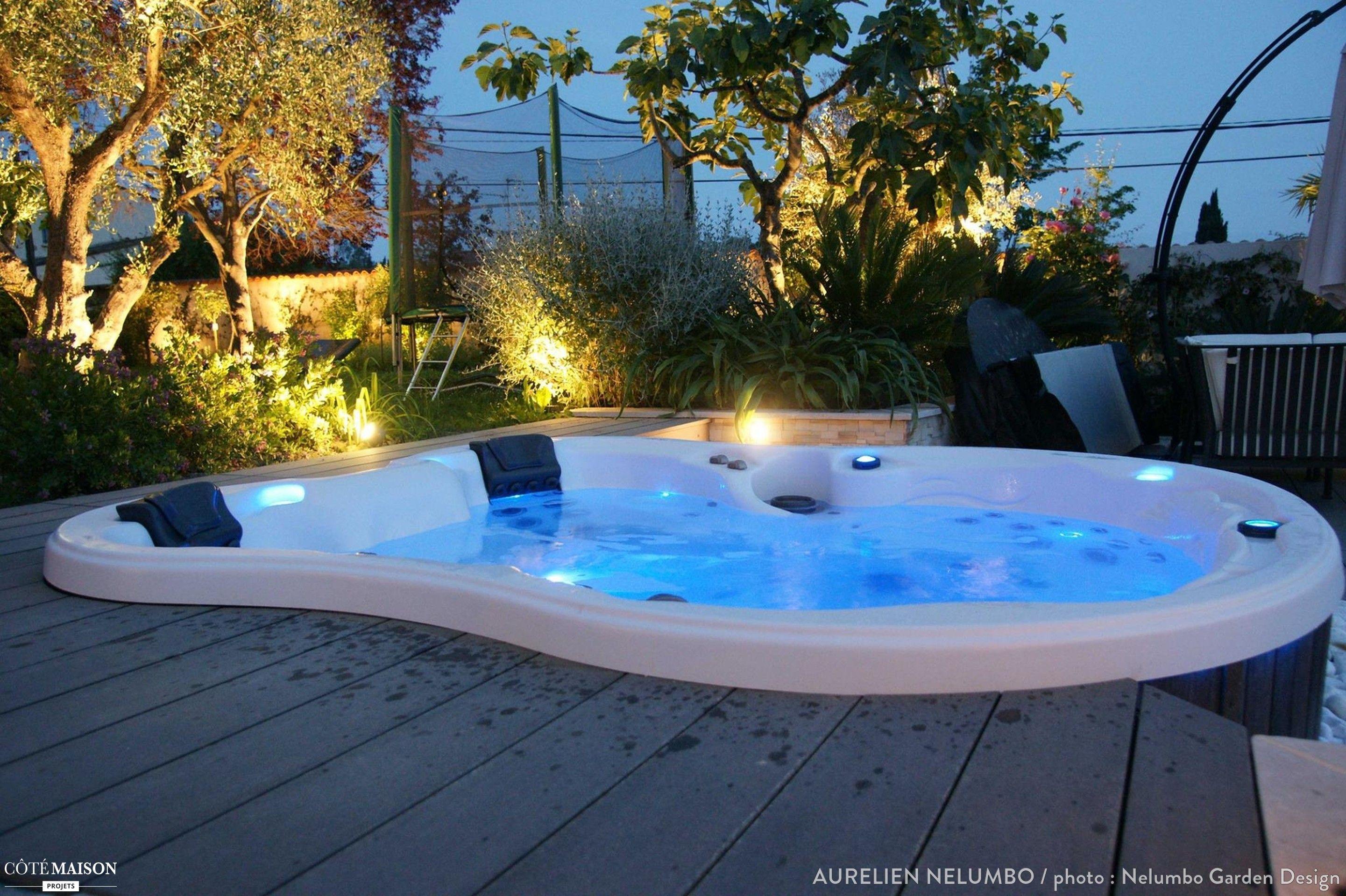 Spa détente sur terrasse en bois  Antibes Terrasse