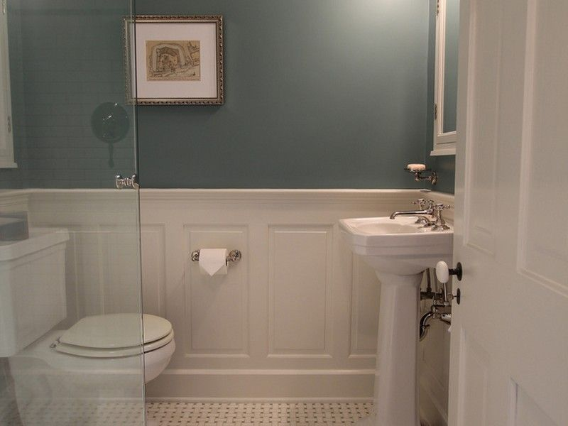 image result for bathroom wainscoting