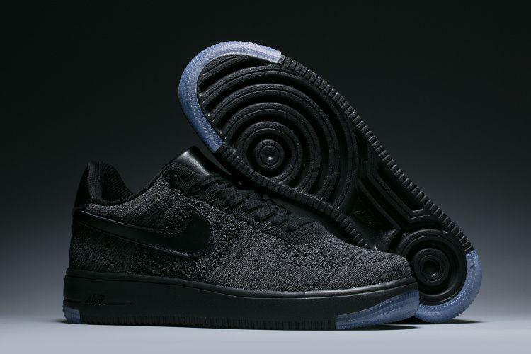 61d4625d54a Nike Air Force 1 Ultra flyknit Low Women s Shoes Black Grey ...