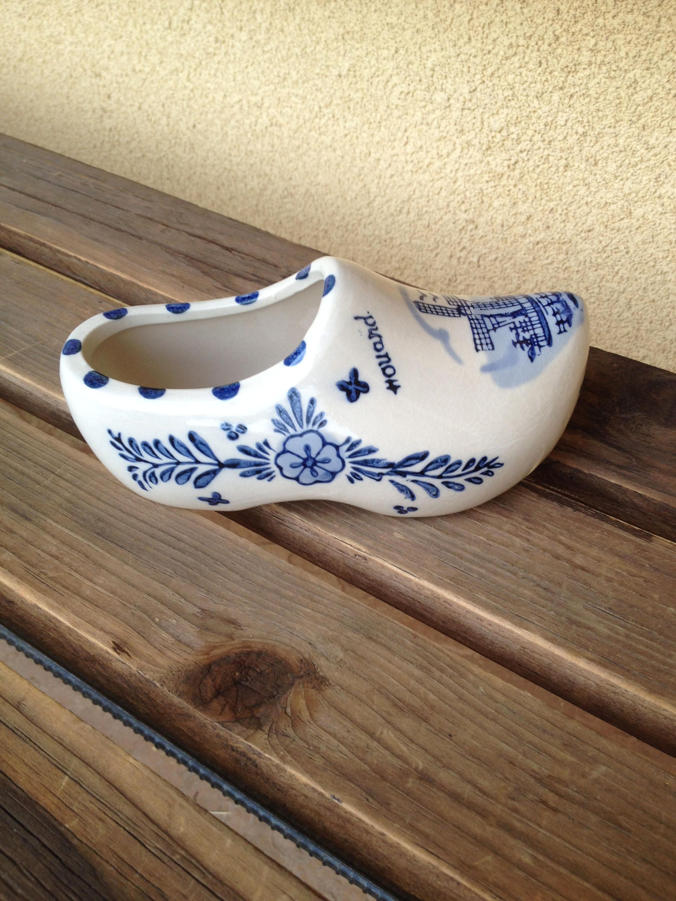 Pottery & China Humor Delft Miniature Plate With Pair Of Clogs Delft