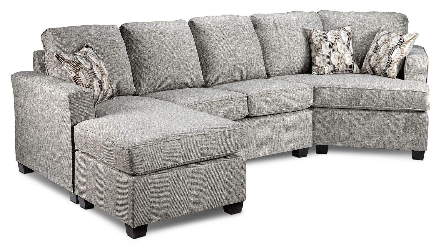 Prime Downtown 2 Piece Left Facing Sectional Grey Leons Andrewgaddart Wooden Chair Designs For Living Room Andrewgaddartcom