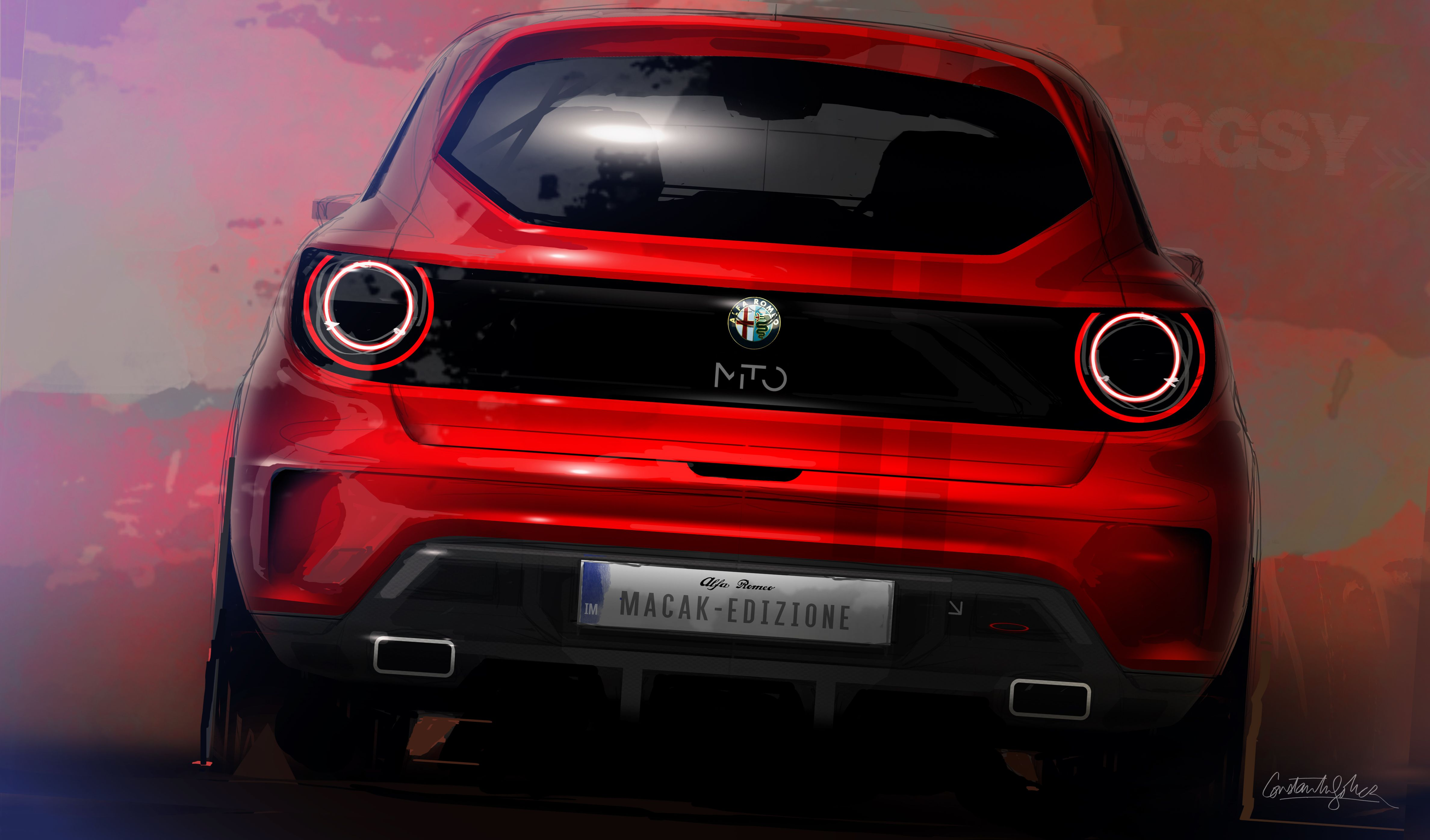 Alfa Romeo Mito Design Sketch - Constantin Sohier