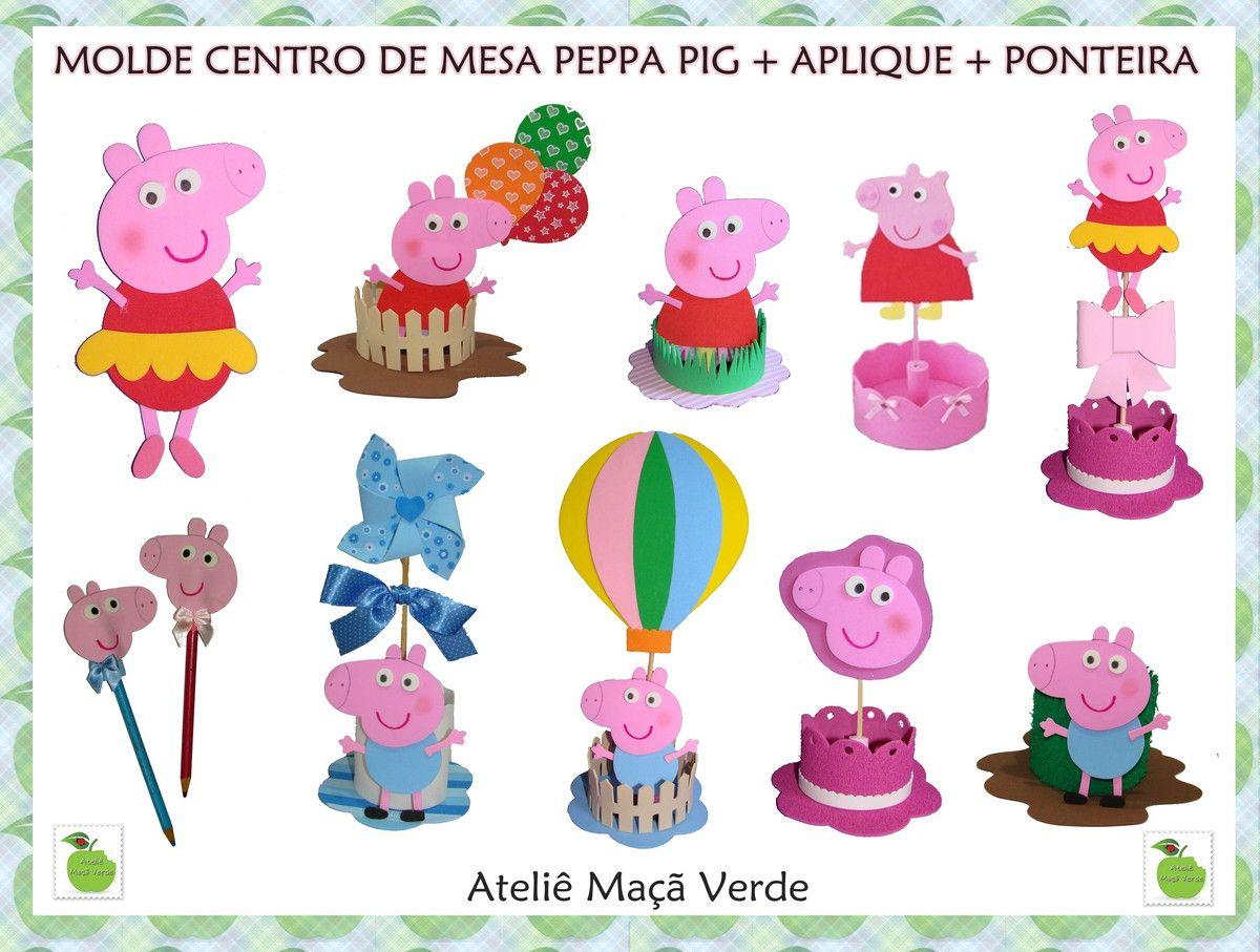 Explore Peppa Pig, Molde, and more! MOLDES PARA CENTRO DE MESA ...