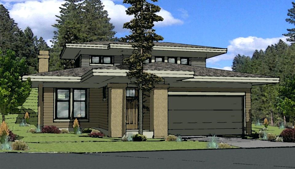 Modern Prairie Style Homes House Plan One Story Small Craftsman