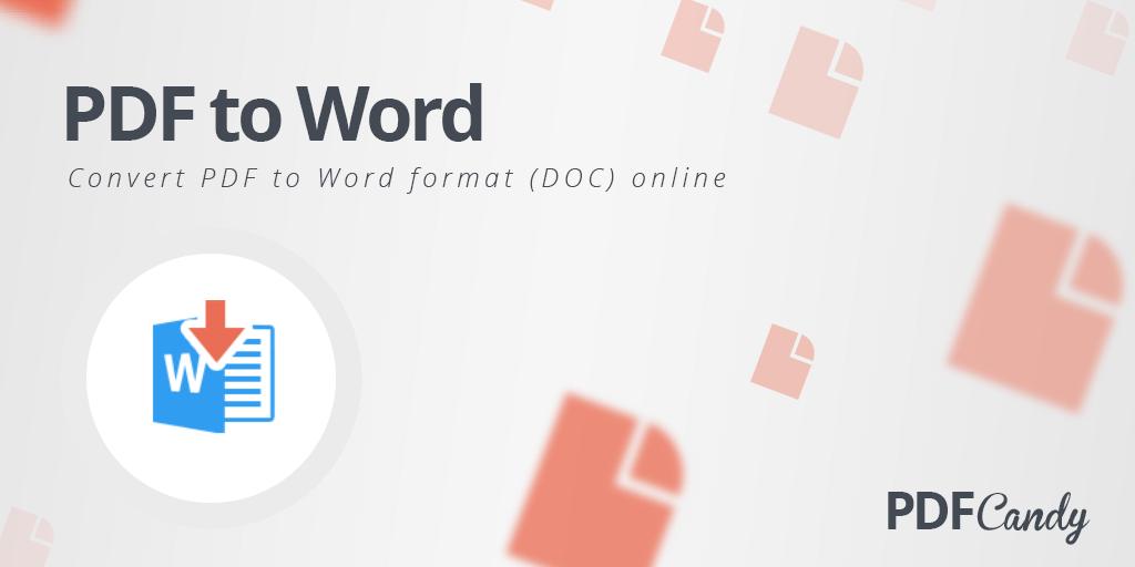 Pdf Candy Converta Online Um Pdf Para Documento Do Word Ferramentas Online Converter Pdf Editor De Texto
