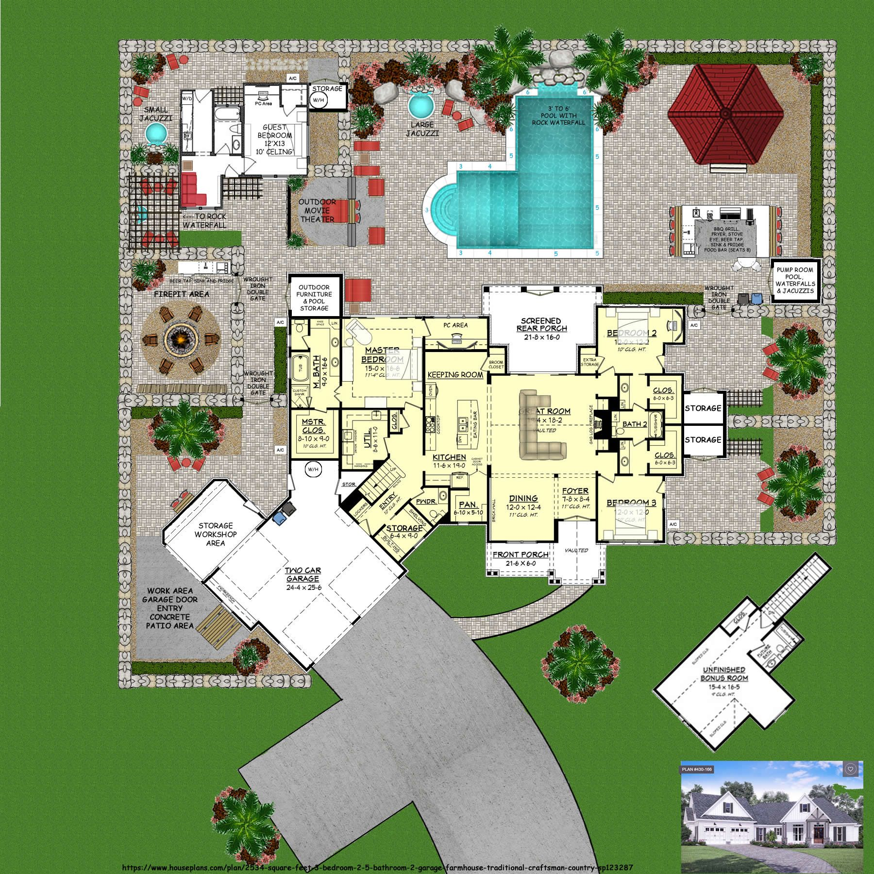 Heavily Edited The Original Plan Can Be Found Here Https Www Houseplans Com Plan 2534 Squar Sims 4 House Design Dream House Plans Small House Design Plans