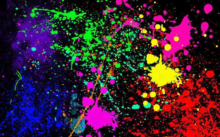 Paint Splatter Idea For Table Cloth Splatter Art Neon Painting Painting