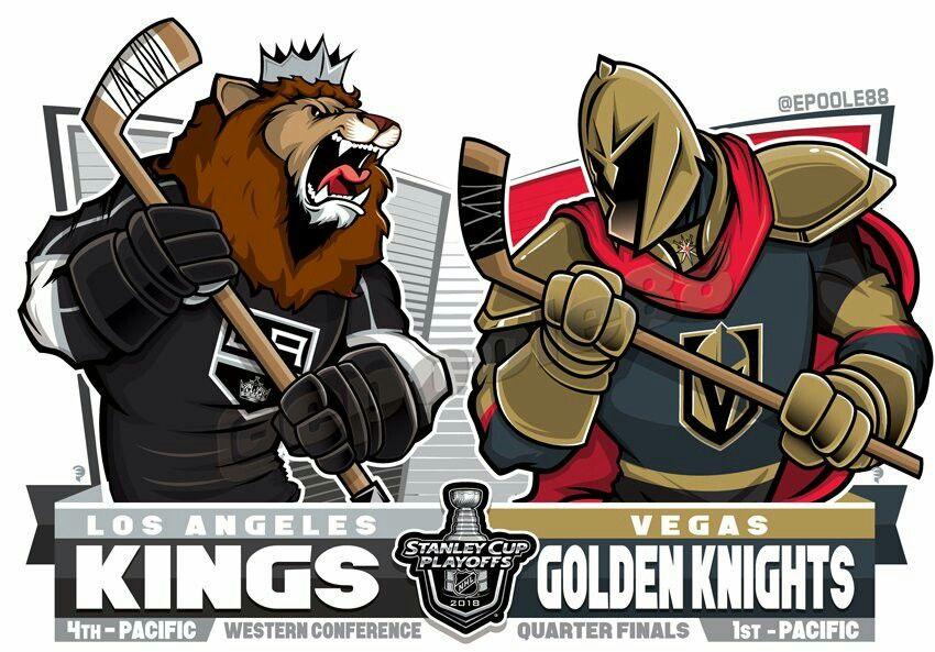 2018 Nhl Stanleycup Playoffs Western Quarterfinals Los Angeles Kings V Las Vegas Gold Vegas Golden Knights Logo Golden Knights Hockey Vegas Golden Knights