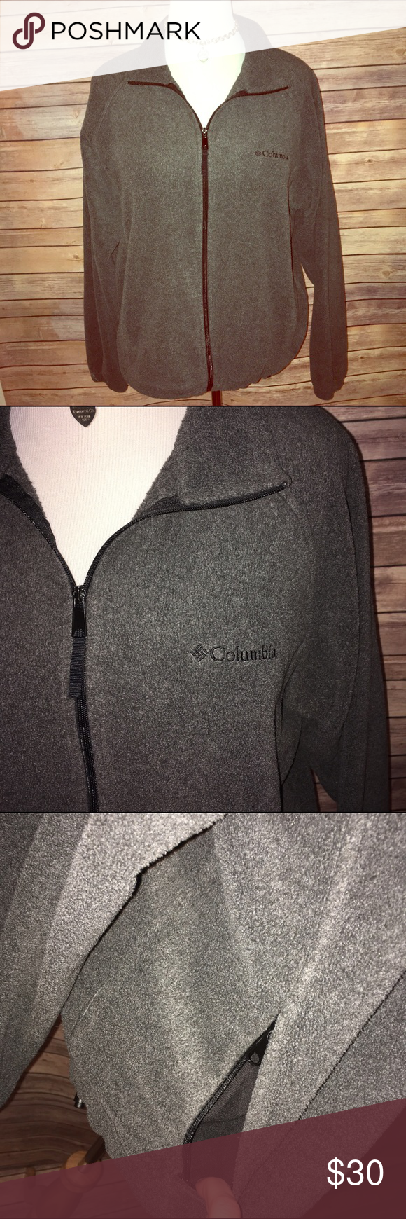 Charcoal Gray Columbia Fleece Jacket Super soft, warm, and cozy! Charcoal gray shade with black logo and zipper. Excellent condition. Check out my other listings to bundle and save 25% 😎! Columbia Jackets & Coats