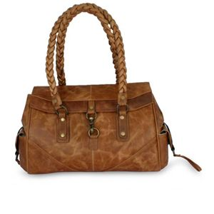 Novica Leather handbag, Golden Days - Handmade Brown Leather Handbag