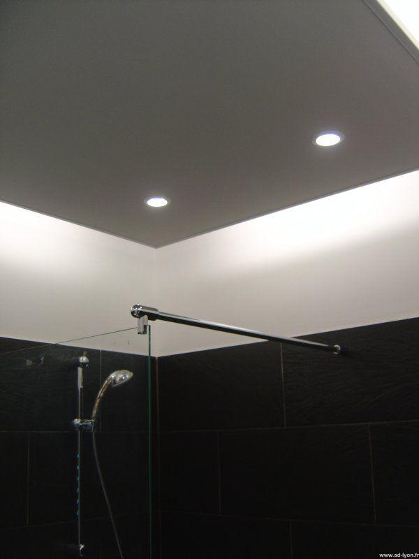 deux projets en mme temps la cration d faux plafond en retomber en y incorporant des spots lumineux et nons l des lments et les perspectives - Faux Plafond Salle De Bain Spot