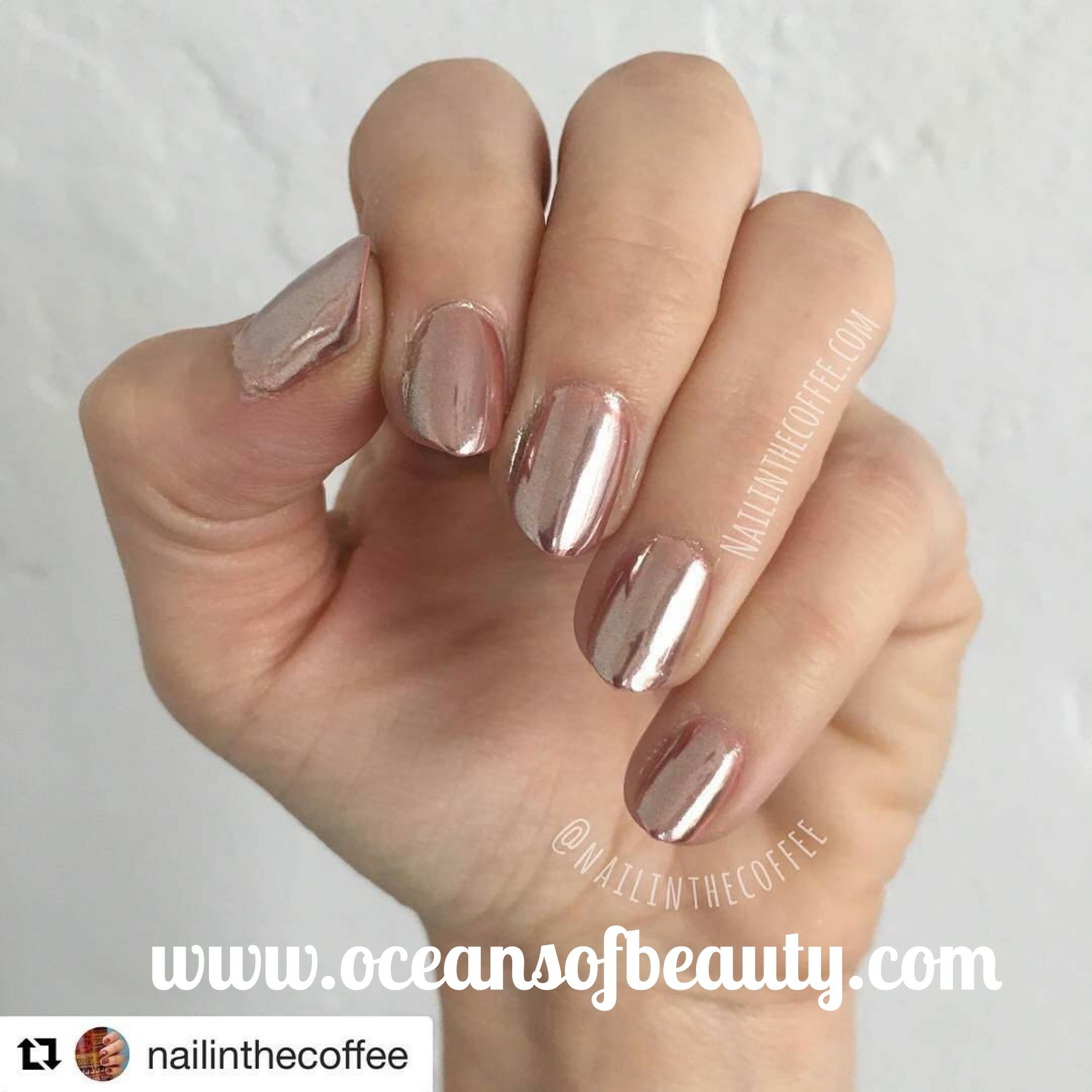 Rose Gold Powder from OceansofBeauty.com Salon Quality done right in ...