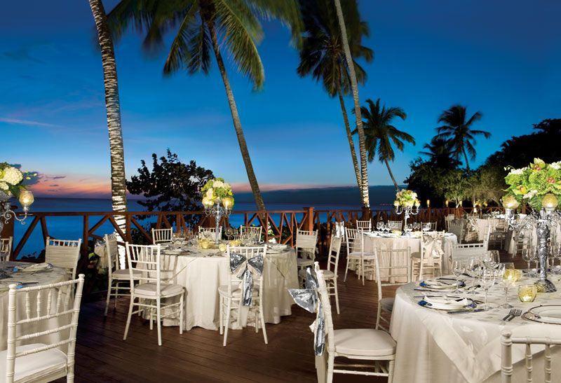 The Exquisite Group Dinner Set Up At Dreams La Romana Offers Stunning Views Of Caribbean And Sandy White Beaches