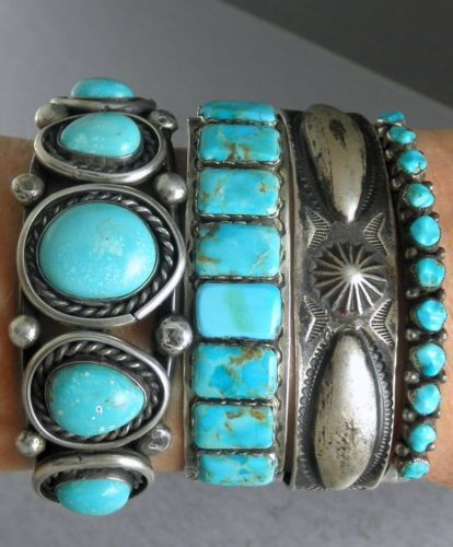 Personalized Photo Charms Compatible with Pandora Bracelets. Vintage Old Pawn Silver & Turquoise Native American Cuff Bracelets