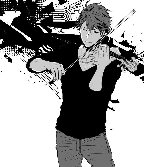 OMG... appare sexy Oikawa selvatico che suona un violino