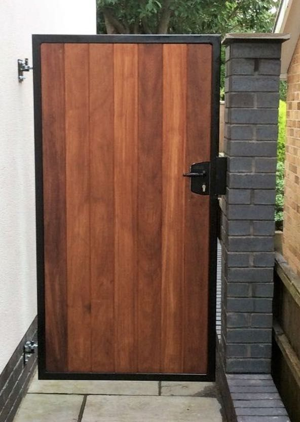 Side Gate Openable From Either Side Side Gates Wooden Garden Gate Wood Gate