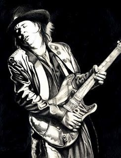 Stevie Ray Vaughan!  Rugged! Manly! Cool!