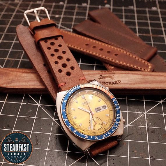 422ad3d93f Horween Dublin Leather Rally Strap Handmade to von SteadfastStraps