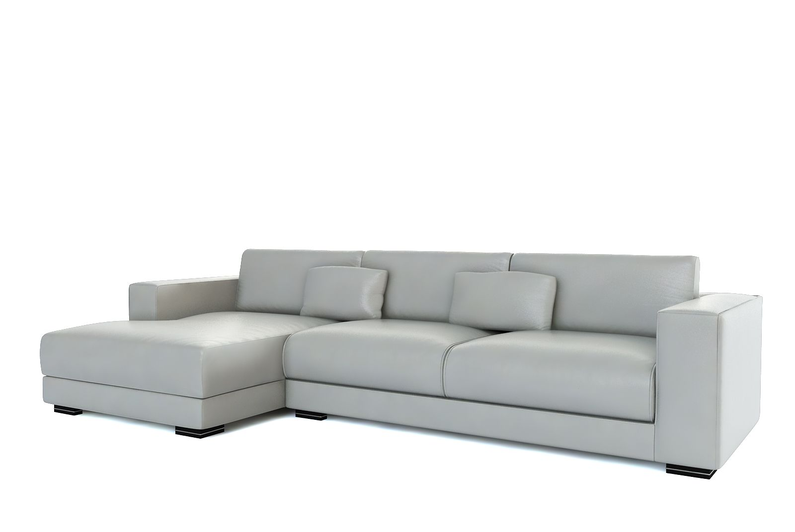 Grey Leather Sofa Light Gray Set