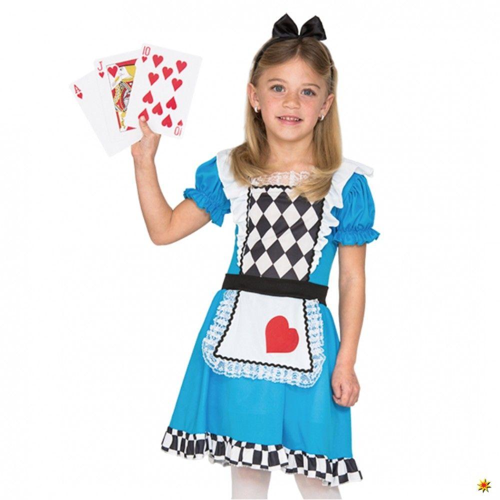 Kinderkostüm Alice im Wunderland Blaues Kleid Kinderfasching