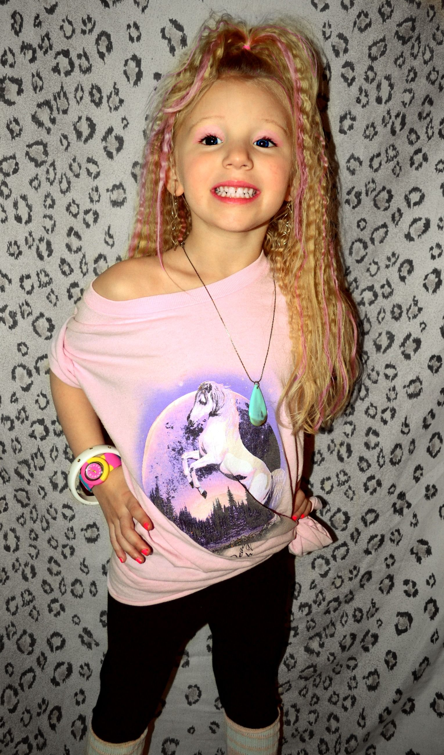 80's toddler aerobics hair & clothing! ;) Little miss Jane Fonda! haha