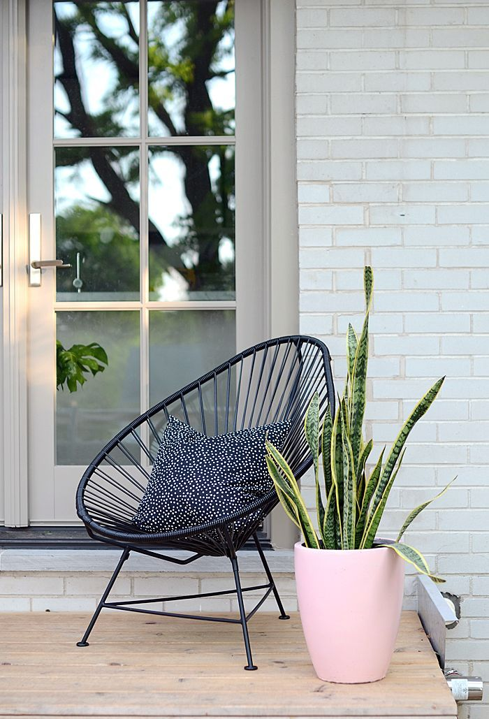 Acapulco Chair Modern Pink Planter