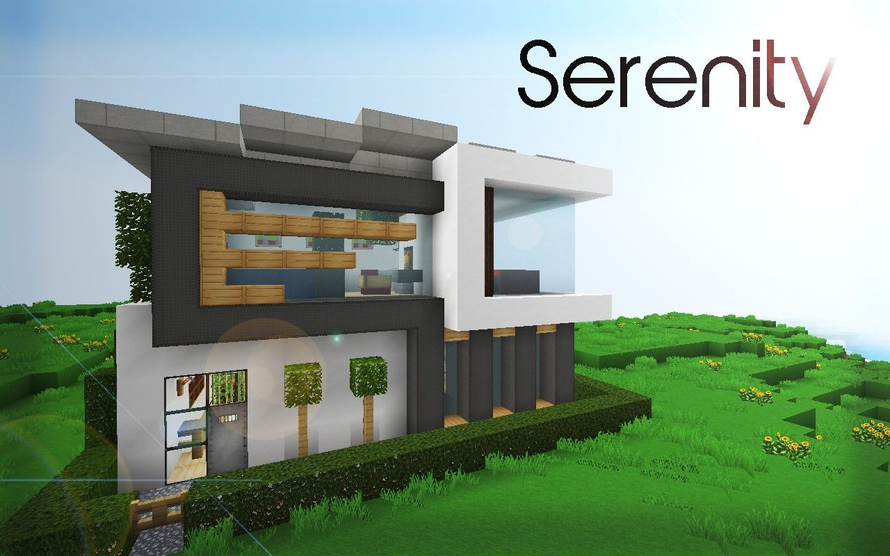 Serenity 16x16 house minecraft project minecraft for How to build a modern house