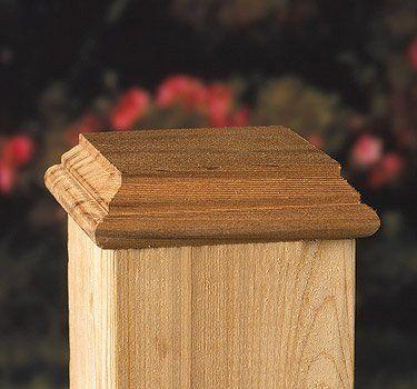 4x4 Hatteras Castine Cedar Post Cap With No Hole Post Cap Wood Post Wood Fence Post Cap