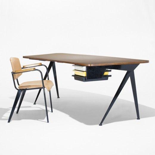 Jean Prouve Curved Compass Desk Ateliers Jean Prouve For Galerie Steph Simon France 1953 C 196 Avec Images Mobilier De Salon Mobilier Design Jean Prouve