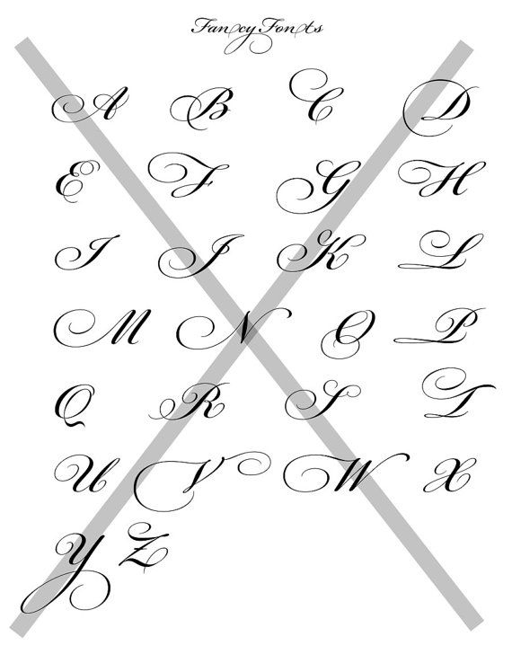 Fancy Fonts Alphabet Collage Sheet 85 X11 Transparent Background For Images Invitations Buttons