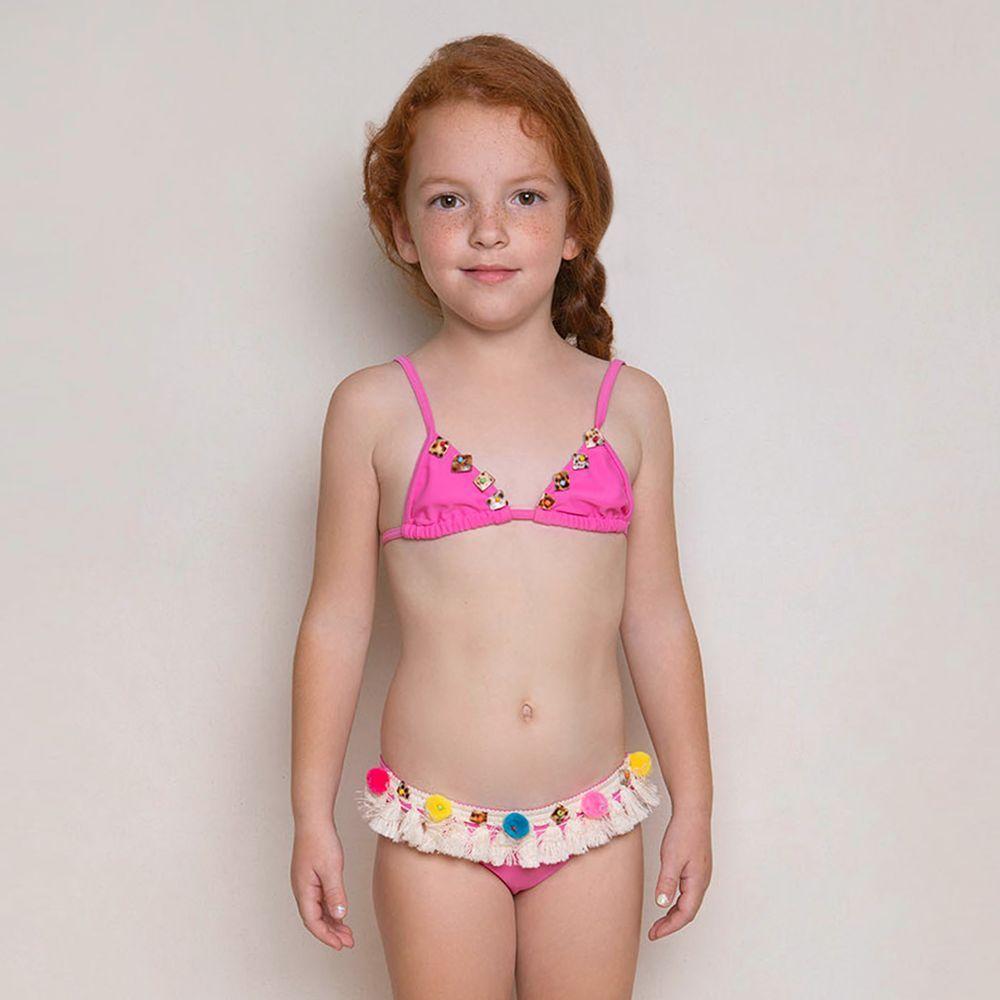 f601117b0097a Selini Action - Girls Pink Pom-Pom #Bikini | | SWIMWEAR GIRLS BOYS ...