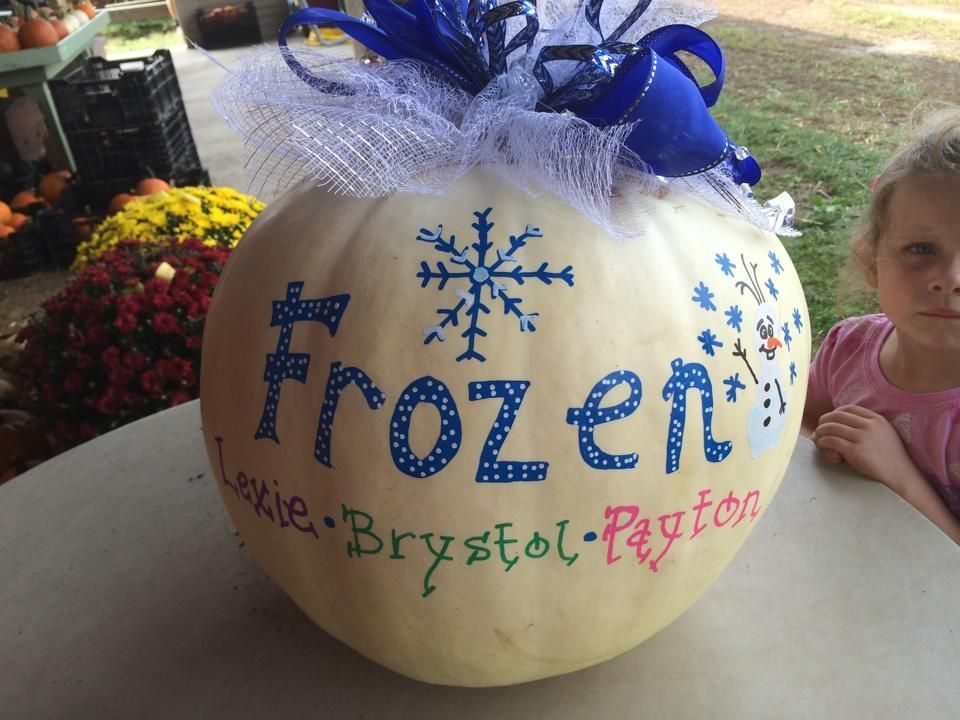 """What little girl wouldn't love a """"Frozen Pumpkin?"""""""