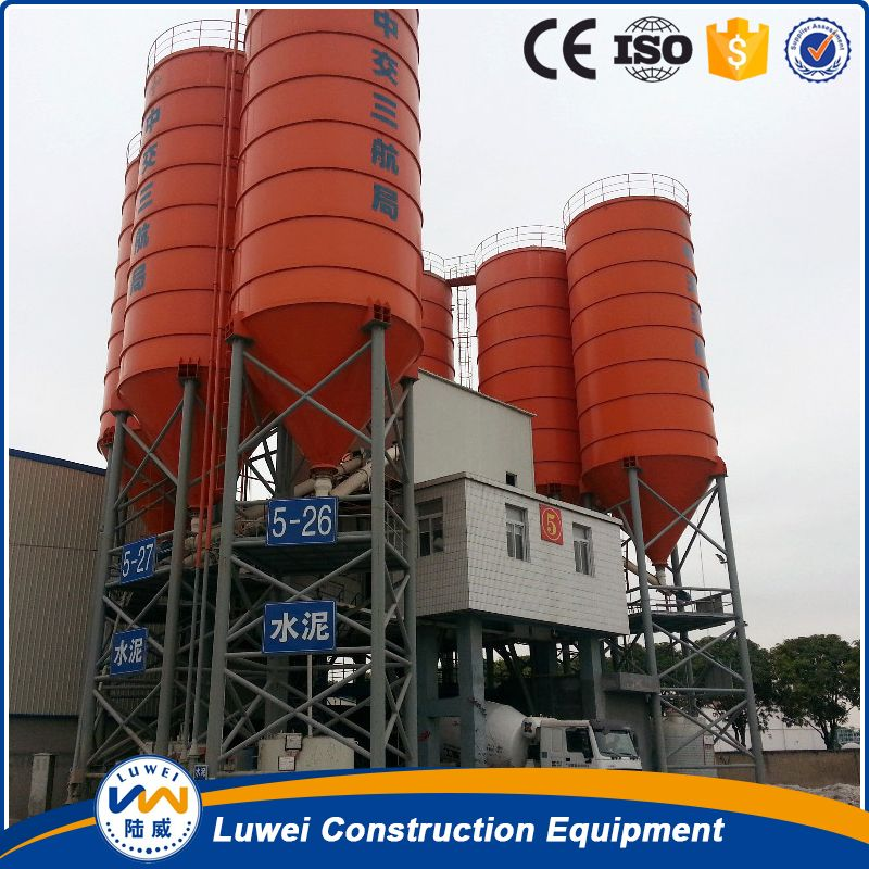 Luwei Steel Silo In Concrete Batching Plant From China Cement Silo