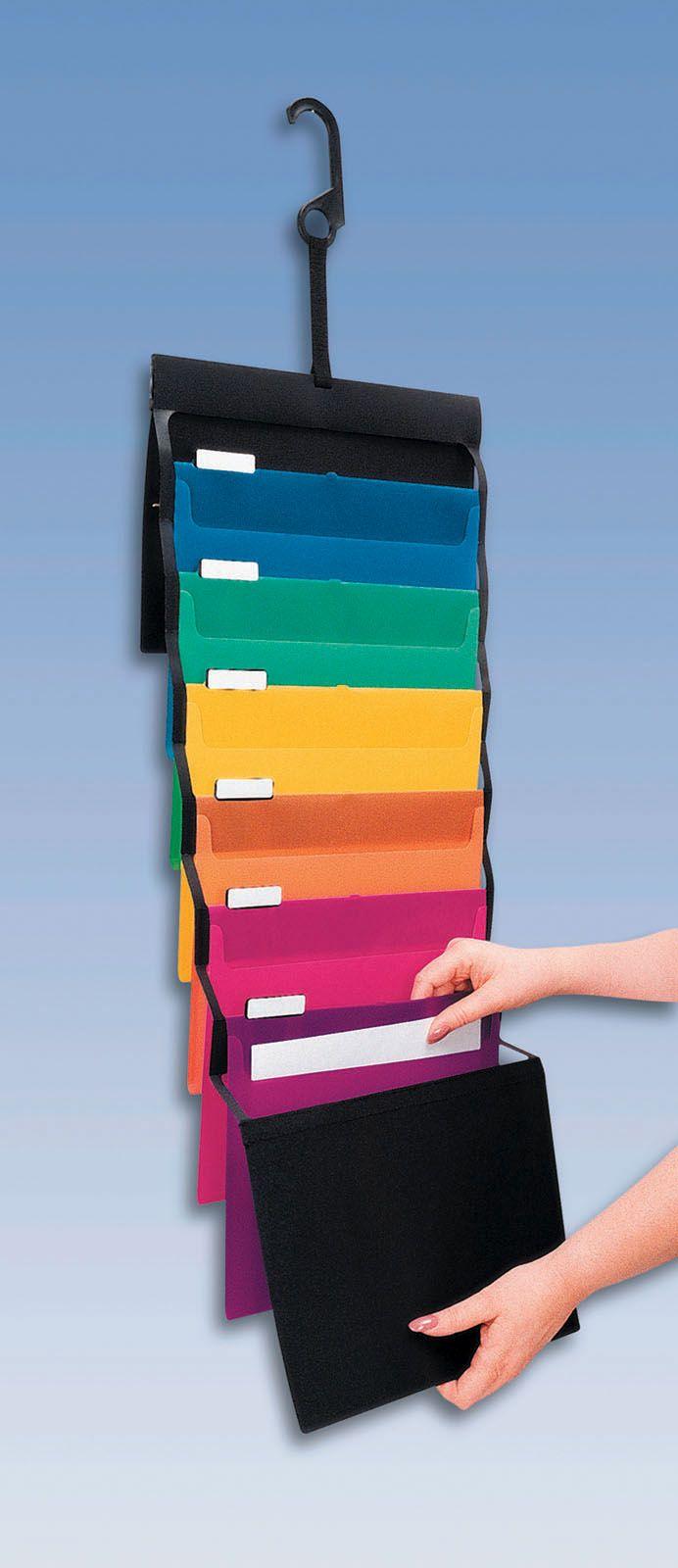 Pendaflex desk free hanging organizer great visual - Hanging desk organizer ...