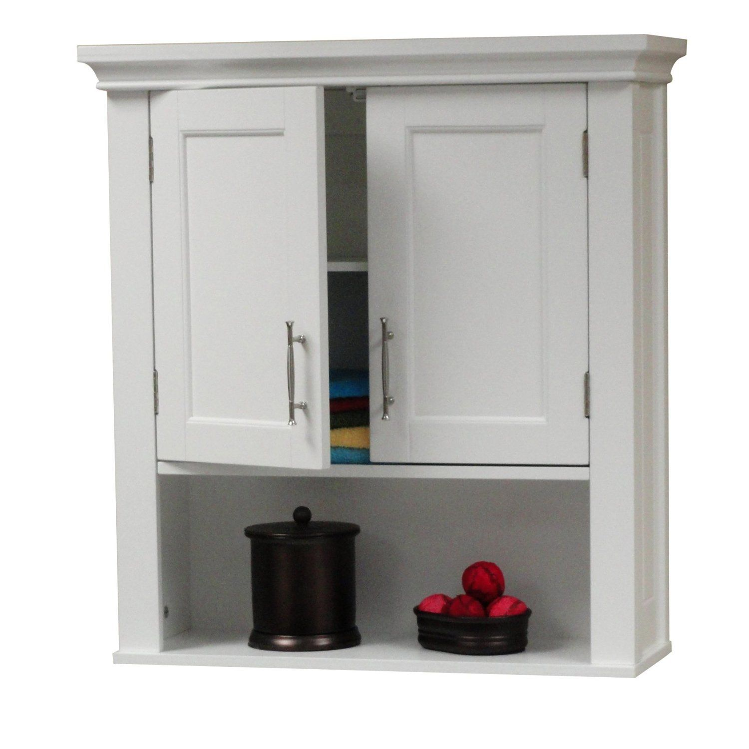 amazon com riverridge somerset wall cabinet with mirrors on wall cabinets id=15010