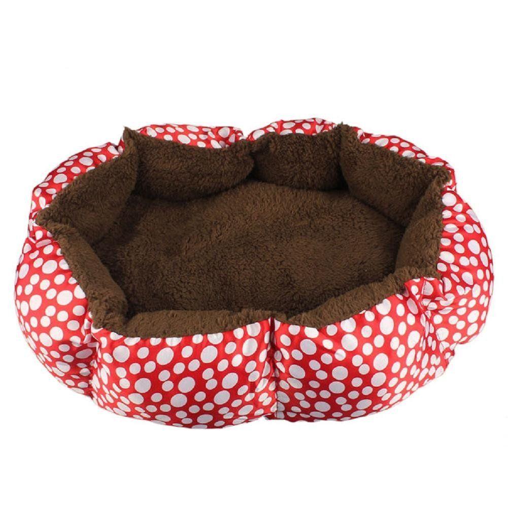 Pet Dog Puppy Cat Soft Fleece Warm Bed House Plush Cozy Nest Mat Pad 5 Color S