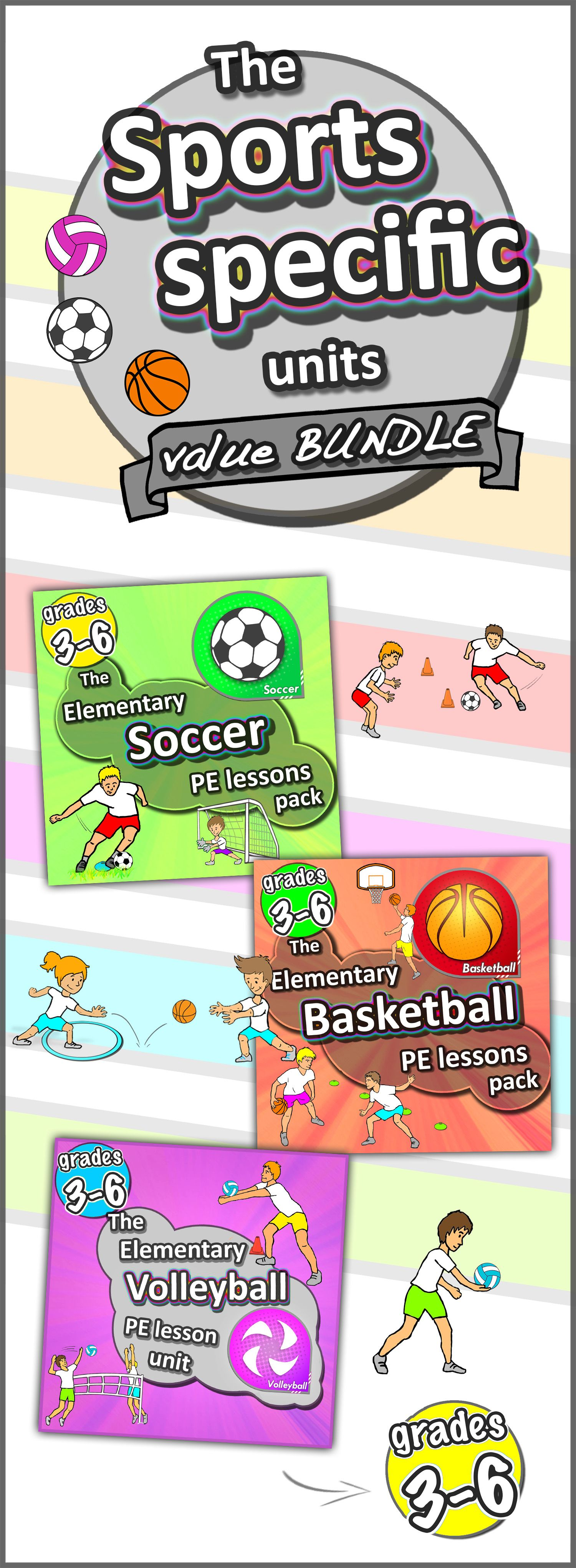 Specific Sports Bundle Soccer Basketball Volleyball Units Basic Skills In Relay Race Each Unit Is Packed With Warm Up Games Pair Ball Work Skill Drills Modified Rotation Stations Races This Youll Get Our