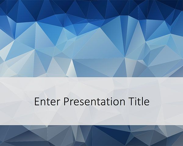 Free Low Poly Powerpoint Template Is A Modern Design Featuring A