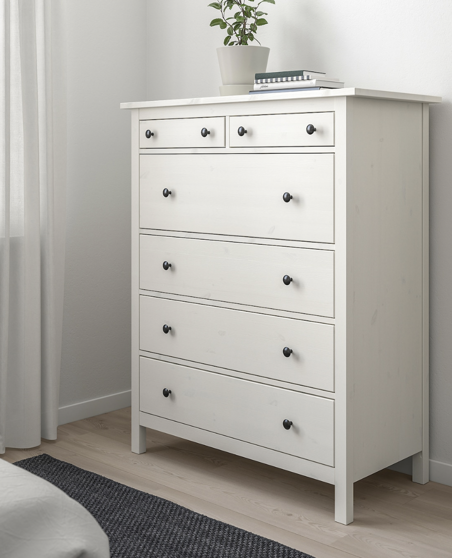Hemnes 6 Drawer Chest White Stain 42